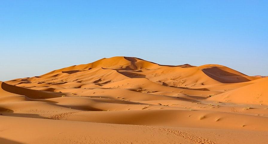 Dune de sable au Maroc