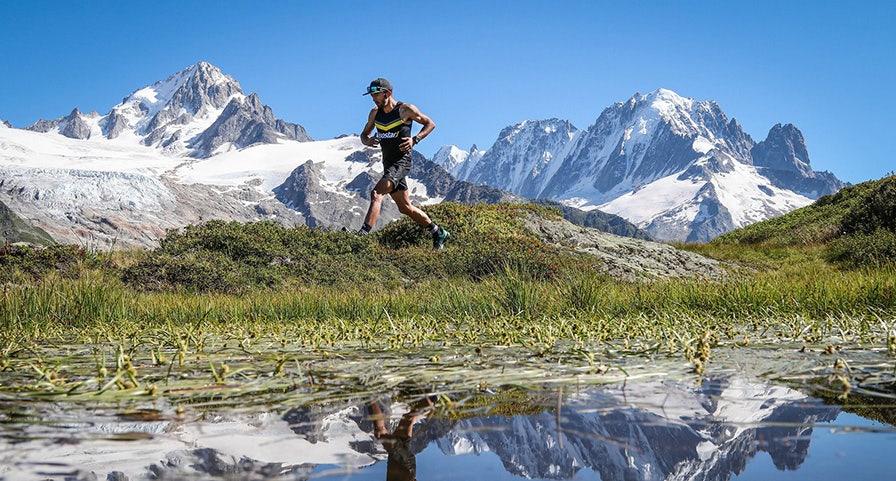 Benoit Galand lors d'un trail en montagne